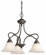 Kichler 2556OZ Stafford Traditional 3-light Mini Chandelier