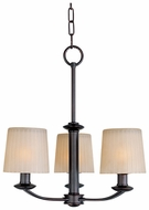 Maxim 21504DWOI Finesse 3-light Mini Chandelier with Shades in Oil-Rubbed Bronze