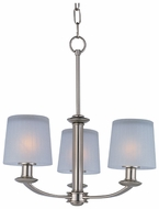 Maxim 21504FTSN Finesse Mini 3-light Modern Chandelier in Satin Nickel