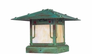 Arroyo Craftsman PDC-9GRC Pagoda Asian Outdoor Pier Mount - 9 inches wide