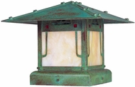 Arroyo Craftsman PDC-17GRC Pagoda Asian Outdoor Pier Mount - 17 inches wide