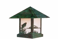 Arroyo Craftsman TRC-9TR Timber Ridge 9 inch Outdoor Pier Mount with Trout Filigree
