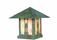 Arroyo Craftsman TRC-9AR Timber Ridge 9 inch Outdoor Pier Mount with Arrow Filigree
