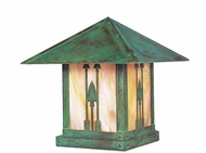 Arroyo Craftsman TRC-12AR Timber Ridge 12 inch Outdoor Pier Mount with Arrow Filigree