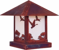 Arroyo Craftsman TRC-16GS Timber Ridge 16 inch Outdoor Pier Mount with Goose Filigree