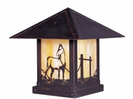 Arroyo Craftsman TRC-12HS Timber Ridge 12 inch Outdoor Pier Mount with Horse Filigree