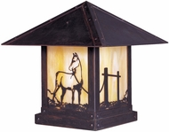 Arroyo Craftsman TRC-16HS Timber Ridge 16 inch Outdoor Pier Mount with Horse Filigree