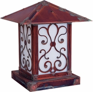 Arroyo Craftsman TRC-16AS Timber Ridge 16 inch Outdoor Pier Mount with Ashbury Filigree