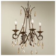 Feiss for Less F26374GIS Reina 4-light Traditional Style Mini Chandelier