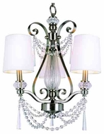 Trans Globe 7873 Young and Hip Corner I 3-light Modern Style Mini Chandelier Light