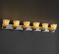 Justice Design ALR8926 Modular Alabaster Rocks! Contemporary Six-Light Bathroom Lighting