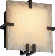 Justice Design FSN5550 Ada Clipped Contemporary Fluorescent Square Wall Sconce