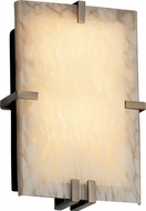 Justice Design FSN5551 Ada Clipped Contemporary Fluorescent Rectangular Wall Sconce