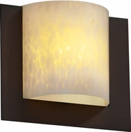 Justice Design FSN5560 Ada Framed Contemporary Fluorescent 3-Sided Square Wall Sconce with Curved Light