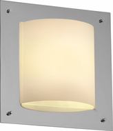 Justice Design FSN5561 Ada Framed Contemporary Fluorescent 4-Sided Square Wall Sconce with Curved Light