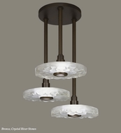 Fine Art Lamps 823640 Crystal Bakehouse 32 Inch Diameter 3 Lamp Modern Multi Pendant Lighting Fixture