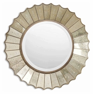 Uttermost 08028-B Amberlyn Antique Gold Leaf Scalloped Edge 32 Inch Tall Wall Mirror