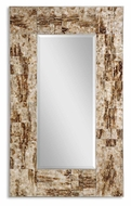 Uttermost 08034-B Durante Marbleized Maple Brown 50 Inch Tall Wall Mounted Mirror