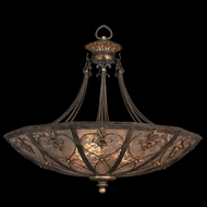 Fine Art Lamps 179942 Villa 1919 Large 3-lamp Wrought Iron Pendant Lighting
