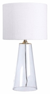 Kenroy Home 32062CL Boda 29 Inch Tall Modern Clear Glass Lamp