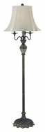 Kenroy Home 32063BZM Baroness Antique Style 64 Inch Tall Bell Shade Floor Lamp