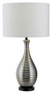 Kenroy Home 32105CH Cyclone 32 Inch Tall Modern Chrome Ceramic Lamp