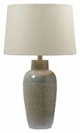 Kenroy Home 32107IRD Facade 28 Inch Tall Transitional Iridescent Ceramic Lamp