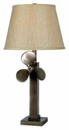 Kenroy Home 32129WS Prop 29 Inch Tall Weathered Steel Propellor Table Lamp