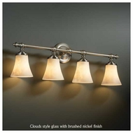 Justice Design 852420 Tradition 4-Light Vanity Light with Round Flared Glass