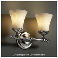 Justice Design 852220 Tradition 2-Light Vanity Light with Round Flared Glass