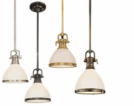 Hudson Valley 2621 Randolph Industrial Mini Pendant Light - 7 inches wide
