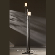 Hubbardton Forge 23-4903 Rook Twin Staggered 2 Lamp 65 Inch Tall Floor Lamp