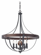 Feiss F2794/5AF/CBA Alston 24 Inch Diameter Charcoal Brick/Acorn Transitional Chandelier