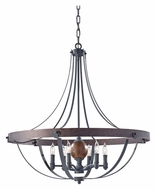 Feiss F2796/6AF/CBA Alston 6 Candle Charcoal Brick/Acorn Finish Chandelier Lighting