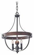 Feiss F2797/3AF/CBA Alston 16 Inch Diameter Charcoal Brick/Acorn Mini Chandelier Lamp