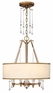 Fredrick Ramond 44504BBZ Bentley 4-light Drum Pendant Lighting