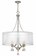 Fredrick Ramond 45604BNI Mime Large 4-light Drum Pendant Hanging Lamp