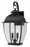 Quoizel BAN8409K Bain Mystic Black Finish 18 Inch Tall Exterior Wall Sconce - Medium