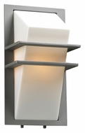PLC 1741SL Juventus Fluorescent Optional Silver Outdoor Sconce