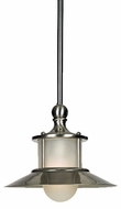 Quoizel NA1510BN New England Brushed Nickel Piccolo Mini Pendant Lamp with Acid Etched Glass