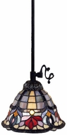 Quoizel TF1536VB Hyacinth Tiffany Piccolo Mini Pendant Light in Vintage Bronze