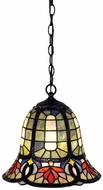 Quoizel TF1737VB Hyacinth Tiffany Mini Pendant Light in Vintage Bronze