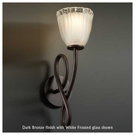 Justice Design GLA-8911-56 Capellini Wall Sconce with Tulip Rippled Rim Glass