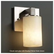 Justice Design 892110 Modular Wall Sconce with Flat Rim Cylinder Glass