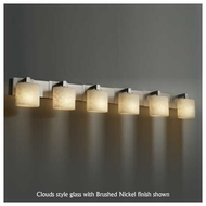 Justice Design 892630 Modular 6-Light Contemporary Vanity Light with Oval Glass