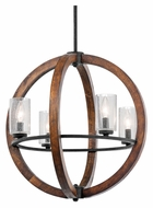 Kichler 43185AUB Grand Bank 20 Inch Diameter Modern Auburn Stained Pendant Lighting
