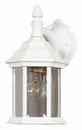 Kenroy Home 16266WH Custom Fit White 7 Inch Wide 1 Lamp Exterior Wall Sconce Lantern