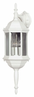 Kenroy Home 16267WH Custom Fit 9 Inch Wide 3 Lamp Wall Sconce Lantern