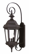 Kenroy Home 16313BL Estate Medium Black Finish Outdoor Wall Light Fixture - 28 Inches Tall