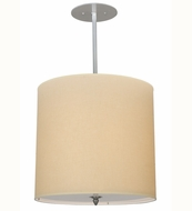 Meyda Tiffany 113849 Cilindro Beige Contemporary Fabric Pendant